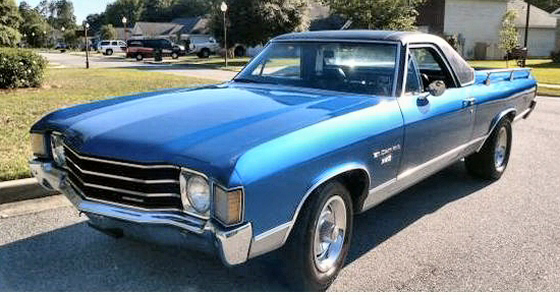 Photo of  1972 Chevrolet El Camino With Only 72,000 Miles Restored