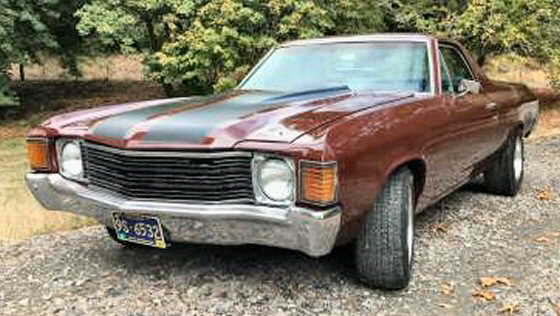 Photo of  1972 Chevy El Camino With 89,000 Miles