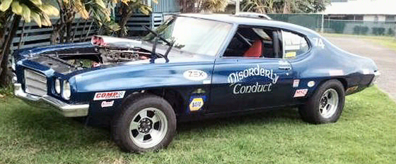 Photo of 1972 Pontiac Lemans Set-up for Drag Racing