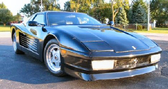 1986 Fiero based Black Ferrari Testarossa Replica