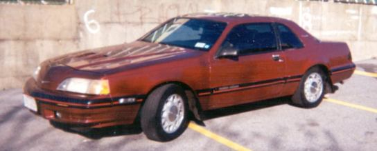 1988 Ford Thunderbird Turbo Coupe,