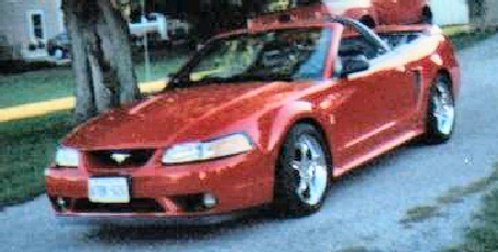 1999 Red Mustang Cobra SVT Convertible, 35th Anniversary Edition