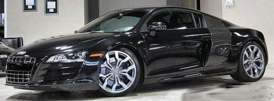 Audi R8 Convertible Matte Black